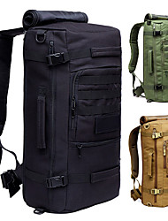 cheap -50 L Hiking Backpack Military Tactical Backpack Multifunctional Waterproof Breathable Shockproof Outdoor Camping / Hiking Hunting Climbing Nylon 600D Green Black Light Brown / Yes / Wear Resistance