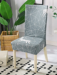 cheap -High Quality Printed Space Geometry Deer Spandex Chair Covers For Dining Room Chair Cover For Party Chair Cover For Wedding Living Room Chair Covers