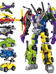 cheap -Building Blocks Construction Set Toys Transformation Car Toy 506 pcs Car Helicopter Robot compatible Legoing Transformable All-In-1 Creative Boys' Girls' Toy Gift / Kid's / Educational Toy