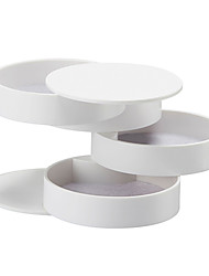 cheap -Round Jewelry Box - Black, White, Pink 10 cm 10 cm 10 cm / Women's