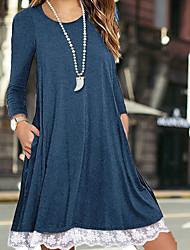 cheap -Women's Elegant Sheath Dress - Solid Colored Black Purple Blue S M L XL