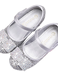 cheap -Girls' Comfort / Flower Girl Shoes PU Sandals Dress Shoes Little Kids(4-7ys) / Big Kids(7years +) Rhinestone / Sparkling Glitter / Sequin Blue / Silver Fall / Winter / Party & Evening / Rubber