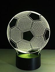cheap -Accesorio De Iluminacin 3D Lmpara LED De Ftbol Para Mesa De Noche Control Remoto RGB 7 Cambio De Color Luces De Noche Interiores Lmpara De Ilusin