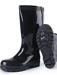 cheap -Men's PVC Spring & Summer Boots Waterproof Knee High Boots Black