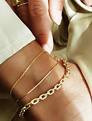 cheap -Body Chain Simple Classic Bohemian Women's Body Jewelry For Daily Wear Street Layered Alloy Lucky Gold 3 Pieces