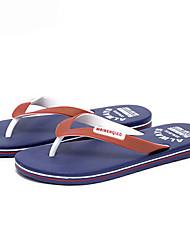 cheap -Men's PU Spring & Summer Casual Slippers & Flip-Flops Breathable Color Block Dark Red / Orange / Blue