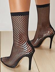 cheap -Women's Heels Stiletto Heel Closed Toe PU Spring &  Fall / Spring & Summer Black