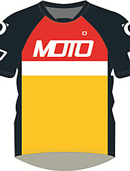 Недорогие -motogp мотоциклетный костюм рубашка красный черный желтый дышащий / быстро сохнет / солнцезащитный крем с коротким рукавом футболки мотоцикла джерси