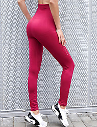 cheap -Women's High Waist Running Tights Leggings Compression Pants Sports & Outdoor Leggings Bottoms Seamless Mesh Elastane Winter Fitness Gym Workout Running Jogging Tummy Control Butt Lift Moisture