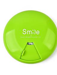 cheap -Medicine Storage Organization smile Collection plastic portable Square Flip-open Cover