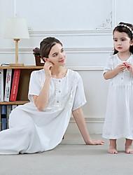 Недорогие -Мама и я Однотонный Набор одежды Белый