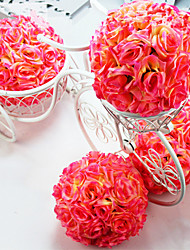 cheap -1pc Mall Hotel Living Room Decorations Wedding Road Flower Decoration 200mm Encrypted Rolled Rose Ball