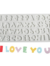 cheap -26 Uppercase Letter; Number Chocolate Mold Fondant Cake Silicone Mold Baking Tool