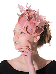 cheap -Headwear Wedding Polyester Fascinators / Hats / Headwear with Feather / Cap 1 Piece Wedding / Party / Evening Headpiece
