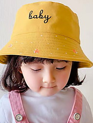cheap -Kids Girls' Letter Hats & Caps Yellow / Blushing Pink / Green One-Size