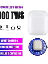 Недорогие -автоматическое обнаружение ушей 1 к 1 реплике i100 tws true беспроводные наушники беспроводная связь Bluetooth 5.0 стерео с регулятором громкости с зарядкой