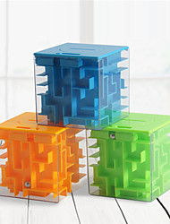 cheap -3D Cube Puzzle Money Maze Bank Saving Coin Collection Case Box Fun Brain Game Kid Educational Toys For Children Intelligent