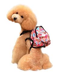 cheap -Dog Harness Commuter Backpack Adjustable / Retractable Cartoon Design Sponge Blue Light Pink