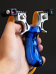 Недорогие -высокая точность открытый охотничий рогатка лазерная прицельная рогатка с плоской резинкой открытый игры слинг выстрел набор