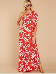 cheap -Women's Sheath Dress - Print Blushing Pink Blue Royal Blue S M L XL
