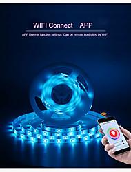 Недорогие -Интеллектуальные огни CL-5050RGB2835CW+WW072HY12-W12-WIFI для Необычные гаджеты для кухни / Гостиная / Спальня Контроль APP / Smart / Светодиодная лампа WIFI 12 V