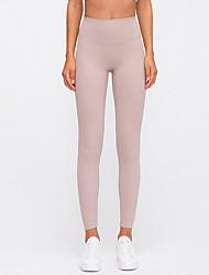 cheap -Women's Sporty Sweatpants Pants - Solid Colored Black Purple Dusty Rose S M L