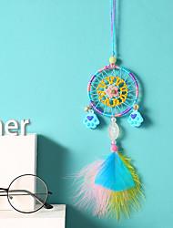 Недорогие -Ins Dreamcatcher автомобиль подвеска фантазия девушка сердце медведь ладонь ветер куранты зеркало заднего вида орнамент креативный подарок