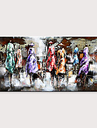 cheap -Handmade Large Fashion Show Contemporary Abstract Art Decor Canvas Oil Painting