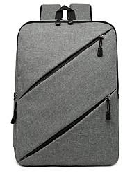 """Недорогие -Большая вместимость Ткань """"Оксфорд"""" Молнии рюкзак Сплошной цвет Повседневные Тёмно-синий / Черный / Серый"""