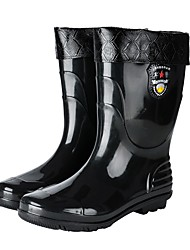 cheap -Men's PVC Spring & Summer Boots Waterproof Mid-Calf Boots Black / Brown / Yellow