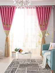 cheap -Gyrohome 1PC Pineapples Shading High Blackout Curtain Drape Window Home Balcony Dec Children Door *Customizable* Living Room Bedroom Dining Room