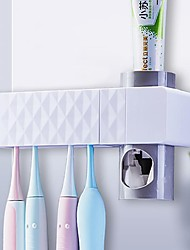 cheap -UV Toothbrush Sterilizer Holder Family Wall Mount Automatic Toothpaste Dispenser