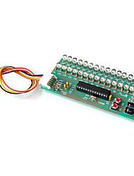 Недорогие -светодиодный свет музыка звуковой спектр динамический дисплей индикатор уровня громкости дисплей двухканальный 16 свет