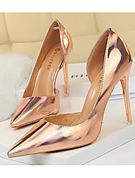 Недорогие -Жен. Обувь на каблуках На шпильке Заостренный носок Полиуретан Весна лето Светло-красный / Светло-коричневый / Золотой
