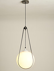 cheap -25 cm Single Design Pendant Light Metal Glass Electroplated Chic & Modern / Nordic Style 110-120V / 220-240V