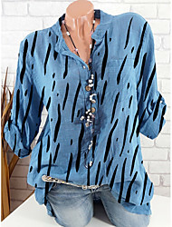 cheap -Women's Daily Shirt - Striped Blue