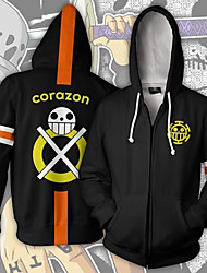cheap -Inspired by One Piece Trafalgar Law Anime Cosplay Costumes Japanese Cosplay Tops / Bottoms Long Sleeve Coat For Men's
