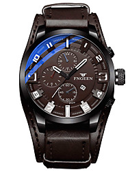 cheap -Men's Dress Watch Quartz Stylish Leather Black / Brown 30 m Casual Watch Analog Casual Fashion - Brown Black Coffee One Year Battery Life