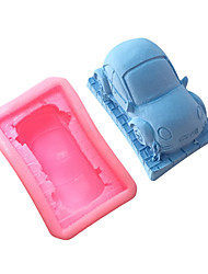 Недорогие -DIY фондант торт автомобиль силиконовые украшения торт формы