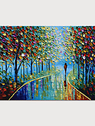 cheap -Hand Painted Rolled Canvas Oil Painting Modern Abstract Landscape by Knife Home Decoration Painting Only