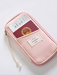 cheap -Passport Holder & ID Holder / Travel Passport Wallet / Bag Microfiber Waterproof / Portable / Shock Absorption Solid Color