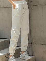 cheap -Women's Basic Chinos Pants - Print White Black S M L
