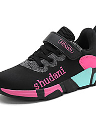 cheap -Girls' Comfort Knit Trainers / Athletic Shoes Little Kids(4-7ys) / Big Kids(7years +) Running Shoes / Walking Shoes Black / Purple / Red Summer / Fall / Color Block / Slogan / Rubber