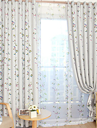 cheap -Gyrohome 1PC Birds Flowers Shading High Blackout Curtain Drape Window Home Balcony Dec Children Door *Customizable* Living Room Bedroom Dining Room