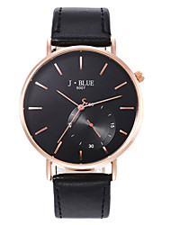 cheap -Men's Dress Watch Quartz PU Leather Day Date Analog Brown Black Black / White One Year Battery Life