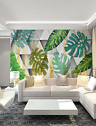 cheap -Custom Self-adhesive Mural Wallpaper Fresh Leaves Suitable For Bedroom Living Room Coffee Shop  Restaurant Hotel Wall Decoration Art Art Deco