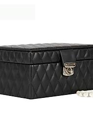 cheap -Jewelry Displays - Leather Black 23 cm 16 cm 12 cm