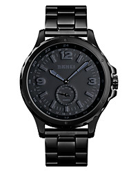 cheap -SKMEI Men's Steel Band Watches Quartz Modern Style Stylish Casual Water Resistant / Waterproof Analog Black / One Year / Stainless Steel / Large Dial