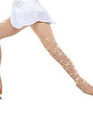 cheap -Figure Skating Pants Women's Girls' Ice Skating Bottoms Khaki Spandex High Elasticity Training Skating Wear Crystal / Rhinestone Ice Skating Figure Skating / Kids