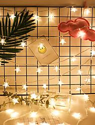 Недорогие -светодиодные фонари пятиконечная звезда свет шнура звездная батарея коробка звезда свет шнура рождественские украшения свет свет рождества свет